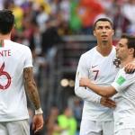 Cristiano Ronaldo gjørdist matchvinnari, sendi Marokko út, og skrivaði søgu í Moskva (Mynd: EPA)