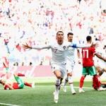 1-0 málið hjá Ronaldo ímóti Marokko gjørdist søguligt