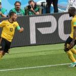 Eden Hazard og Romelu Lukaku eru millum bestu leikararnar hjá Belgia (Mynd: EPA)