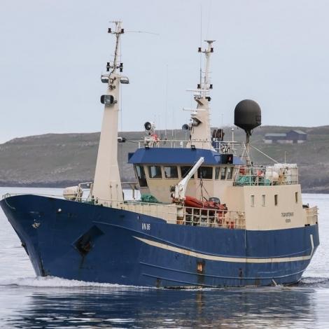 Umleið 431.000 pund landað í Havn í dag