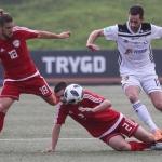 B36 og OFK Titograd Podgorcia dystast um rættin at spæla í 2.undaumfarið móti Besiktas (Mynd: Sverri Egholm)