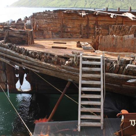 Heimsins sterkasta træskip á Klaksvík