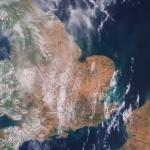 Evropa skift lit frá grønt til brúnt