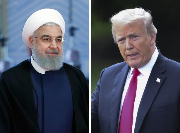 Iranski forsetin Hassan Rouhani og amerikanski forsetin Donald Trump (Mynd: EPA)