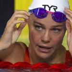 Pernille Blume aftaná 100 metrar frísvimjing hálvfinaluna (Mynd: EPA)