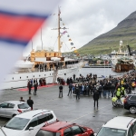 Myndir: Krúnprinsafamiljan komin til Klaksvíkar