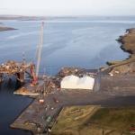 Mæla til at gera djúphavn í Hetlandi til upphøgging av oljupallum