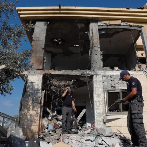 Rakett úr Gaza rakti hús í Ísrael í morgun