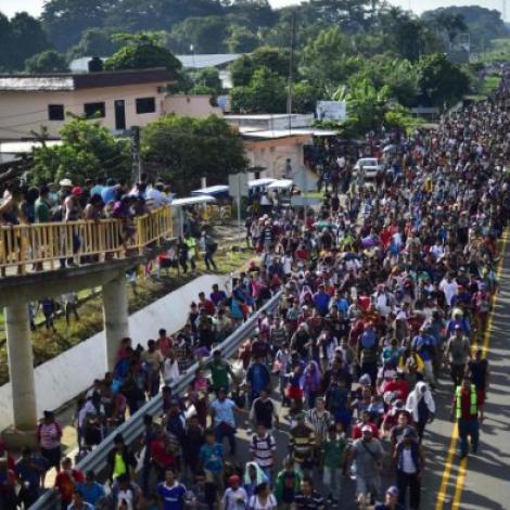 7000 flóttafólk er komin til Meksiko á veg til USA
