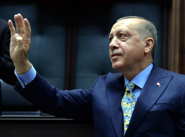 Turkiski forsetin, Recep Tayyip Erdogan (Mynd: EPA)