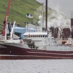 Grønlendskt uppsjóvarskip landað í Fuglafirði