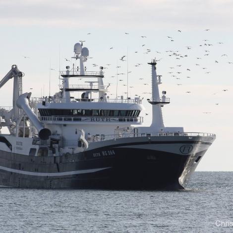 Ruth landar svartkjaft í Skagen