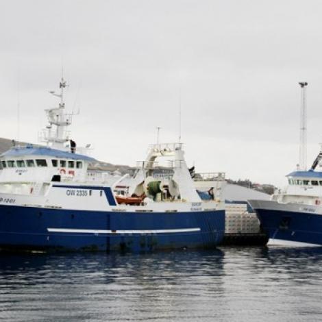 Stelkur og Bakur landaðu í Runavík í gjár