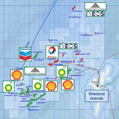 Shell selur oljuognir í Norðsjónum og ger íløgur á Atlantsmótinum