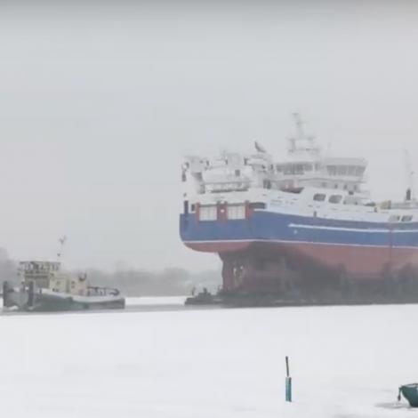 Video: Hetlendskur nýbygningur verður sleipaður til Norra