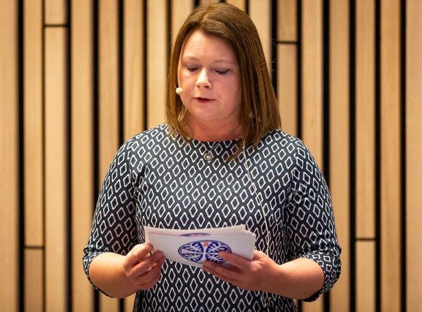Elin Heðinsdóttir Joensen, ÍSF-forseti (Mynd: Ólavur Frederiksen)