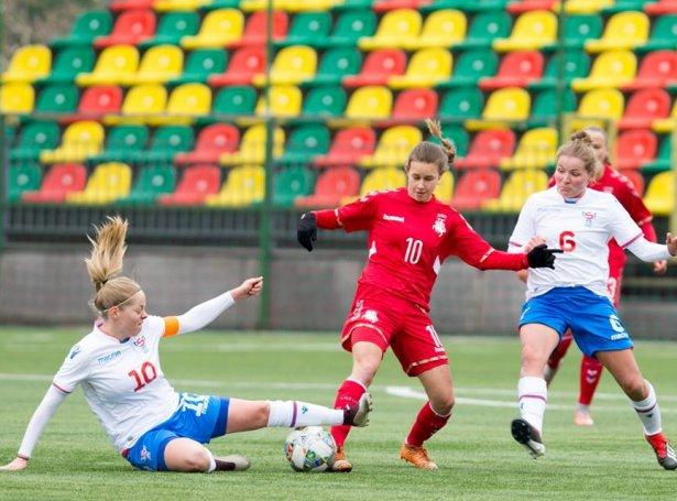 Olga Kristina Hansen (nr.10) skoraði avgerandi málið ímóti Heidi Sevdal og HB í dag