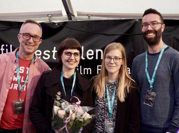 Frá vinstru: Phillip J. Bartell, Julia í Kálvalíð, Johanna Pyykkö og Gabe Van Amburgh (Mynd: Martin Hammar)