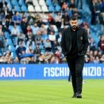 Gennaro Gattuso gavst sum venjari hjá AC Milan tá tað vísti seg at liðið ikki megnaði at spæla seg í Champions League (Savnsmynd: EPA)