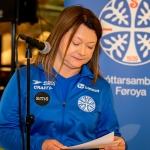 Elin Heðinsdóttir Joensen, ÍSF-forseti (Savnsmynd: Ólavur Frederiksen)