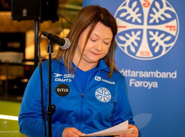 Elin Heðinsdóttir Joensen kom inn á ávirkanina av minkandi inntøkum frá Sp/f Ítróttavedding (Savnsmynd: Ólavur Frederiksen)
