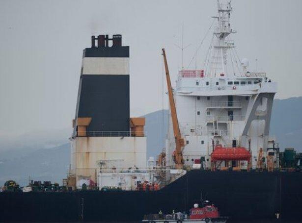 Iranska oljuskipið Grace 1 sum verður afturhildið í Gibraltar av bretska flotanum