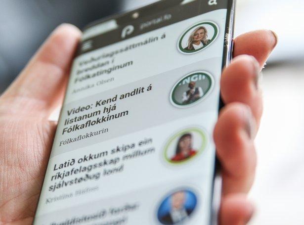 Lesarabrøv í fokus á einum serligum plássi á Portal-forsíðuni