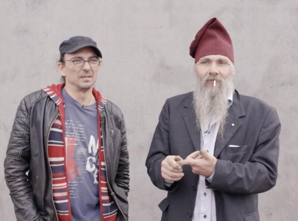 Hallur Hjalmgrímsson Djurhuus og Arnfinn á Birtuni (Skíggjamynd: DR)