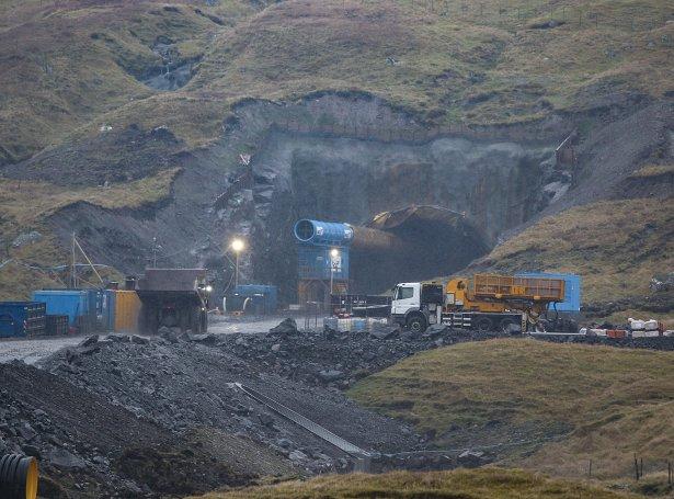 Í Traðardali eru í alt boraðir 3.573 metrar (Mynd: Sverri Egholm)