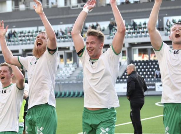 Nýggju KÍ leikararnir Odmar Færo og Ole Erik Midtskogen (Mynd: h-a.no)