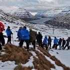 Myndir: Á Brúnaskarði við 25 frískligum fólkum