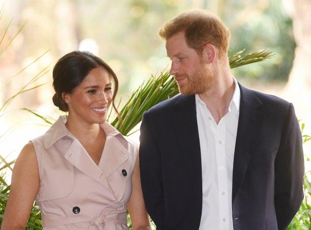 Meghan og Harry prinsur (Mynd: EPA)