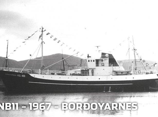 Mynd: Borðoyanes var nýbygningur nummar 11 á Skála skipasmiðju
