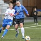 Føroyar og Estland hittust í venjingardysti á Tórsvølli í fjør. Hann endaði 1-1 (Mynd: Sverri Egholm)