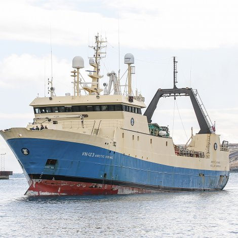 Arctic Viking landar í Norra