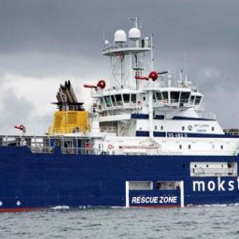 Stórt norskt frálandsskip við føroyskari manning á Havnina í dag