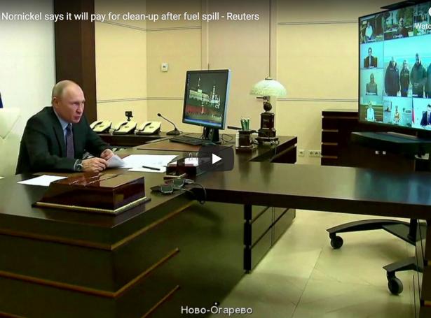 Putin forseti hevur lýst dálkaða økið í Sibiria í undantaksstøðu, nú 20.000 tons av dieselolju eru likin út í áirnar