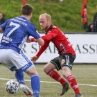 Patrik Johannesen skoraði til 2-1 fyri KÍ - Jógvan Rói Davidsen javnaði til 2-2 fyri HB (Mynd: Sverri Egholm)