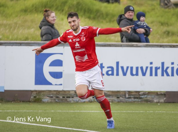 Uros Stojanov skoraði málið hjá ÍF til 2-0 (Savnsmynd: Jens Kr. Vang)