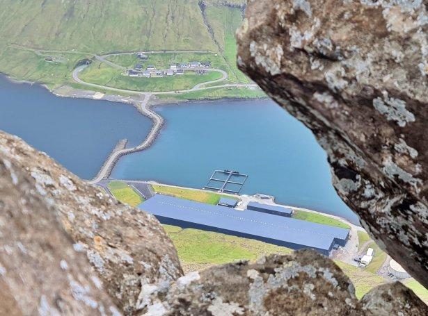 Smoltstøðin hjá Bakkafrost á Strond (Savnsmynd: Pól Sundskarð)