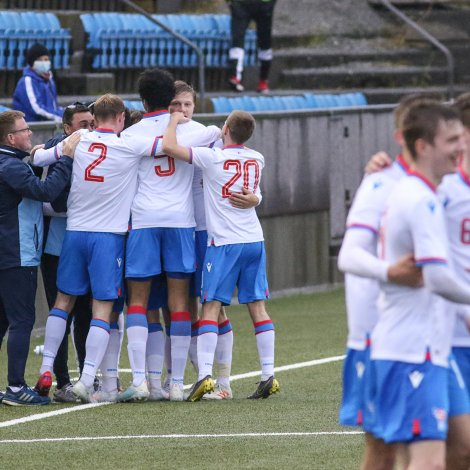Føroyar vunnu í september 3-1 á Ísrael á Svangaskarði (Mynd: Sverri Egholm)