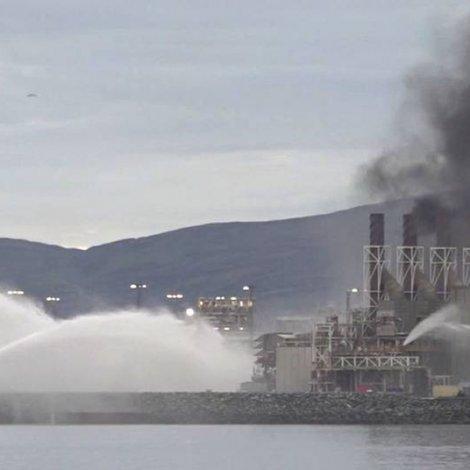 Eldur í gassvirki í Norðurnoregi