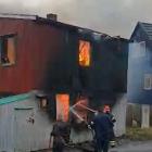 Video: Stórur eldur í Nólsoy