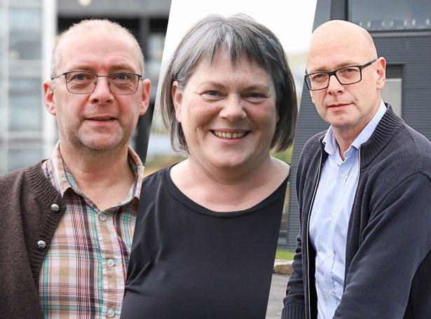 Karl Vang, Hansina Magnussen og Sverri Justinussen (Mynd: Sverri Egholm)