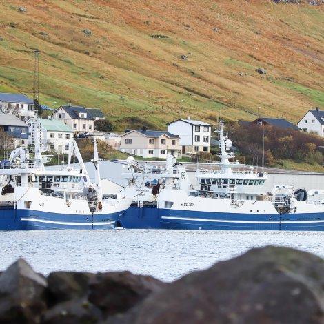 Írsk skip landa í Fuglafirði