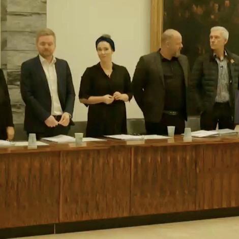 Video: Karl Johansen valdur til borgarstjóra