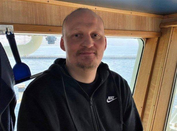 Kristian Thomsen, skipari á Lerki (Mynd: Føroyska Sjómansmissiónin)