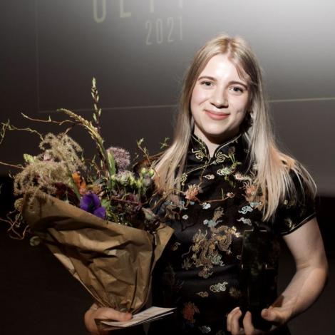 Barbara Lervig fór av stað við øllum