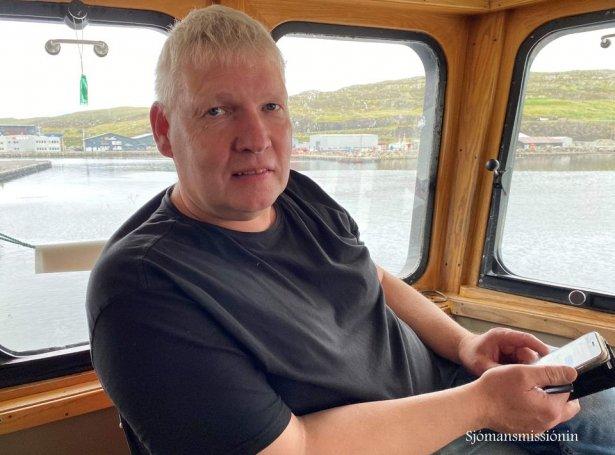 Mortan Mortensen, skipari (Mynd: Føroyska Sjómansmissiónin)
