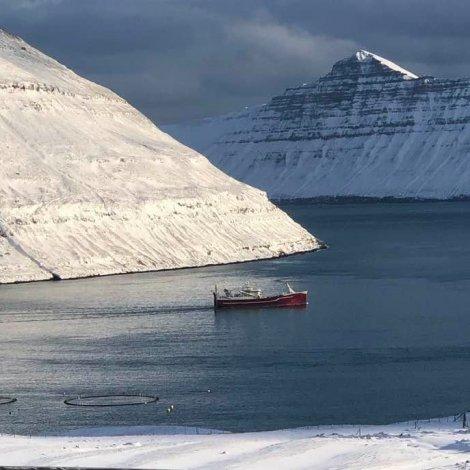 Nýggjasta uppsjóvarskipið í íslendska flotanum á Fuglafirði